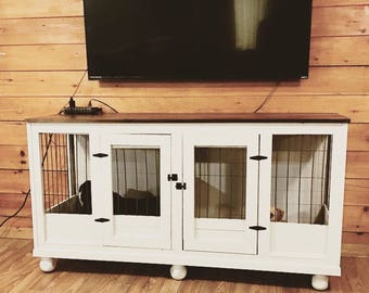 Single or Double Dog Crate