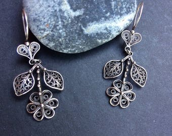 Turkish Filagree Sterling Drop earrings