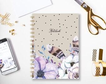 Notebook | Bullet Journal | A5 Notebook | A4 Notebook | Journal | Diary | Sketchbook | Spiral Notebook | Gift for friend School Journal