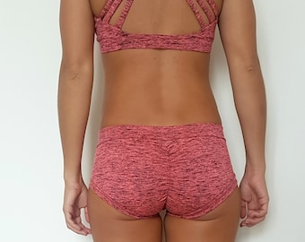 Bottom, poledance Outfit, workout, pink and black bamboo, yoga wear