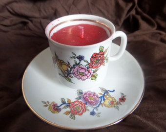 Vintage Cup candle.