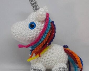 Unicorn miniature crochet plushie