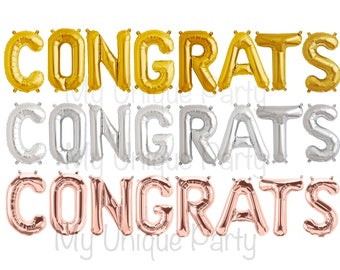 Congrats balloons etsy congrats balloons set of 8 balloons air fill only congrats banner balloons choose gold altavistaventures Choice Image