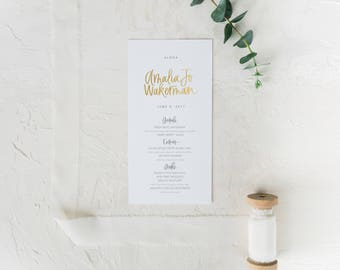 Menu Cards with Calligraphy Names, Place Cards, Menu by Hawaii Calligraphy