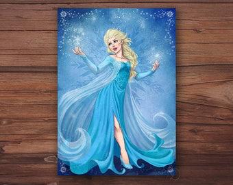 A5 - Elsa card. The snow Queen