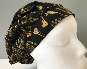 Bouffant Scrub Hat - Skeleton Bones