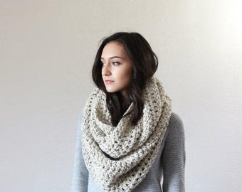 The Strasbourg - OATMEAL // End of season SALE Super Chunky Infinity Scarf, loop scarf, circle scarf, cowl, snood