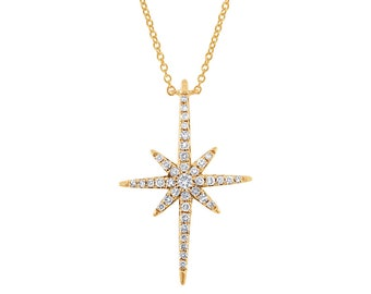 Star Diamond pendant, Necklace Pendant, Designer 14K Gold Pendant, Fashion  Pendant Jewelry,  Gold diamond Pendant, Women Designer Jewelry