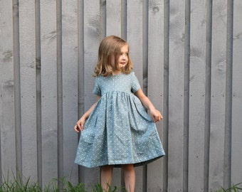 Girls Dresses - Linen Girl Dress  - Linen Dress - Handmade by OFFON