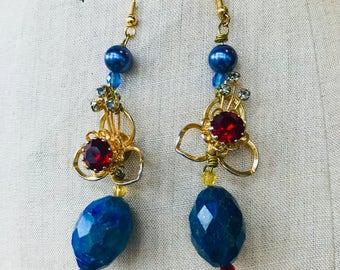 One off vintage gems earrings