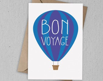 Bon Voyage Greetings Card