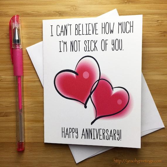 spesso Anniversario divertente carta buon anniversario amore GI78