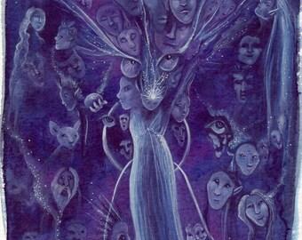 Soul Journey Original Watercolour Painting