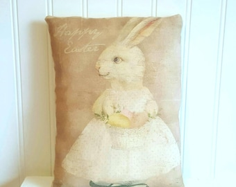 Rabbit pillow | Easter decorations | Farmhouse Decor | Easter Bunny | Rustic | Easter gift | Spring decor | Bunny Pillow