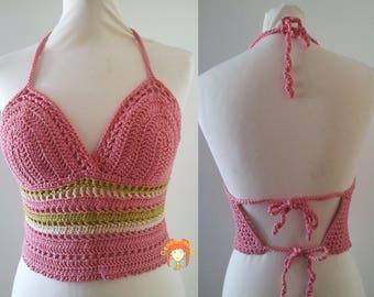 Crochet handmade cotton Halter