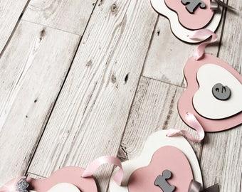 Personalised Bunting - Baby Bunting - Wooden Bunting - Unicorn - Baby Girl Gift - Baby Boy Gift - New Baby - Nursery Decor - Nursery Bunting