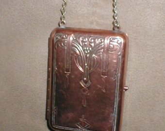 Antique 1910 German Silver Compact and Coin Purse