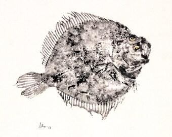 Sole Fish Print S44
