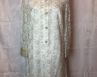 347. SOLD - VINTAGE- Lace and Bead Dress