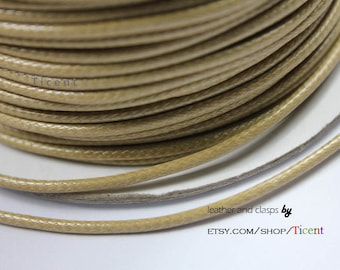Sale 100 Yards/Roll 2mm Camel Wax Cords, Environmental Protection Wax Cords WS218
