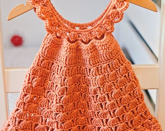 Crochet dress PATTERN - Bell Dress (sizes up to 6 years)