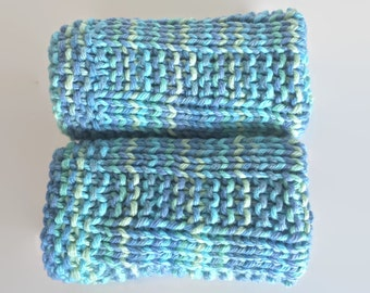 knit washcloth ~ baby washcloth ~ baby shower gift ~ new baby gift ~ knit dishcloth ~ eco friendly gift ~ gift basket idea / skin care