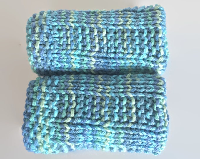 knit washcloth ~ baby washcloth ~ baby shower gift ~ new baby gift ~ knit dishcloth ~ eco friendly gift ~ gift basket idea / skin care