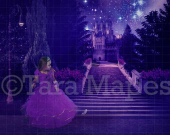 Cinderella Inspired Staircase to Castle Digital Background