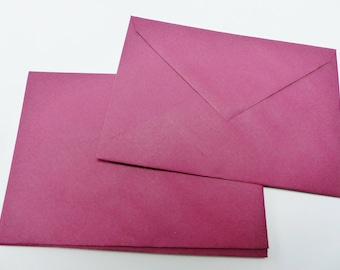 10 envelopes coloured Burgundy 16 X 11.5 cm C6 envelope