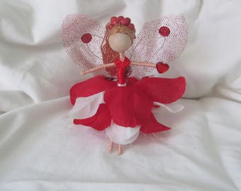 Red and White Flower Fairy