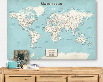 World map pinboard etsy world map pinboard travel gift boyfriend push pin for map traveler gifts for women farmhouse home gumiabroncs Image collections