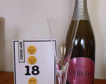 Emoji 18th Birthday Card FREE SHIPPING
