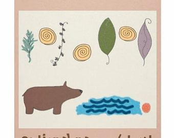 Le lac de l'ours des bois enfant couverture polaire confortable laisse literie rustique forêt