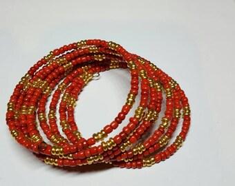 Red memory wire bracelet