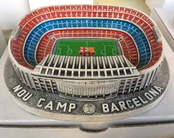 Fc Barca Camp Nou from Armeni. Catalonian CLUB from gypsum