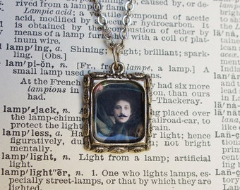 Bearded Lady Feminist Necklace, Victorian Pendant, Mustache Woman, Transgender Gift, Smash the Patriarchy, Gift for Her, Feminist Gift