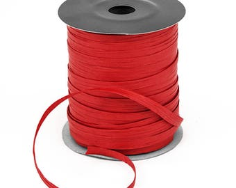 Red Kraft Raffia on a roll 91 metres in length