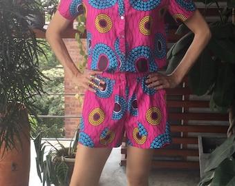 African print onesie