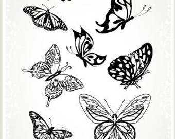 """Perfect Butterfly // Clear stamps pack (4""""x7"""") FLONZ"""
