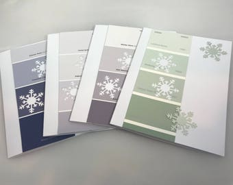 Snowflake notecards