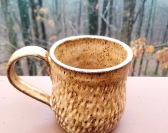 Handmade pottery mug, ceramic mug, coffee mug, tea cup, drinkware, stoneware, unique gift, 2 CUPS, FREE SHIPPING