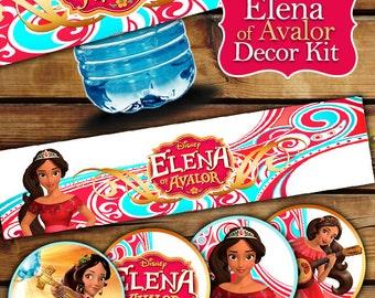 ELENA OF AVALOR labels, Elena of Avalor Decor Kit, Elena of Avalor Toppers, Elena of Avalor Food Tents, Elena of Avalor Birthday Party,Elena