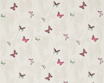 Sanderson Curtains In Wisteria U0026 Butterfly DWOW225527