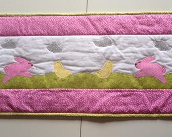 Bunnies and Chicks Table Runner
