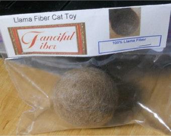 Llama Fiber Cat Toy Ball