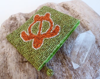 Grandmother Turtle ~ Crystal Keeper ~ Beaded Pouch