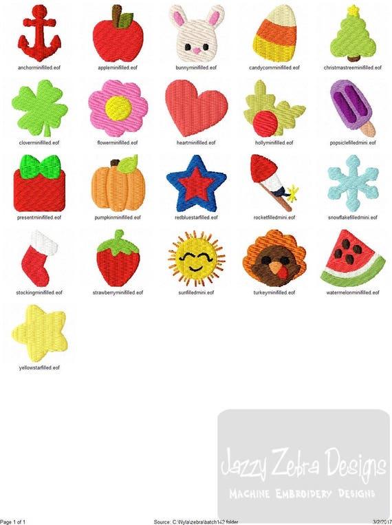 Set Of 21 Mini Embroidery Designs Bundle 1 1 Mini