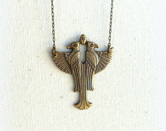 Ra egyptian jewelry sun god mythology pagan jewelry mens necklace falcon necklace egyptian necklace fathers day gift