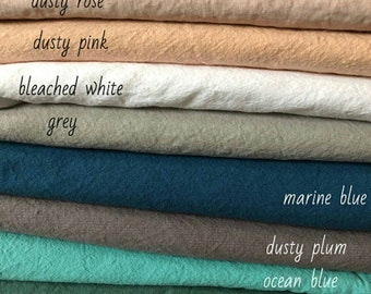 Linen Bleached White fabrics for Kerry