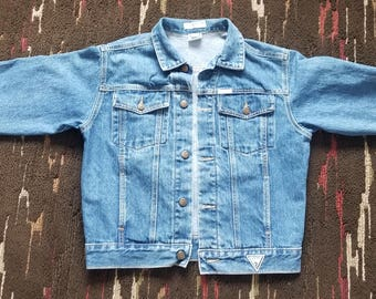 Guess? by Georges Marciano Vintage 80's 90's Women's Guess Jeans Denim Jean Jacket Small